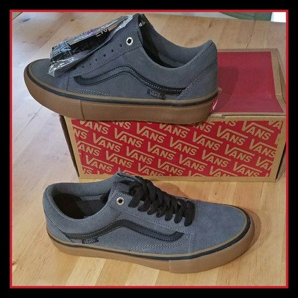 e2e4a056f3 Vans Old Skool Pro Grey Black Gum Sole